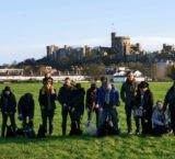Scottish Terriers from London Scottie Club stroll through Windsor and Eton